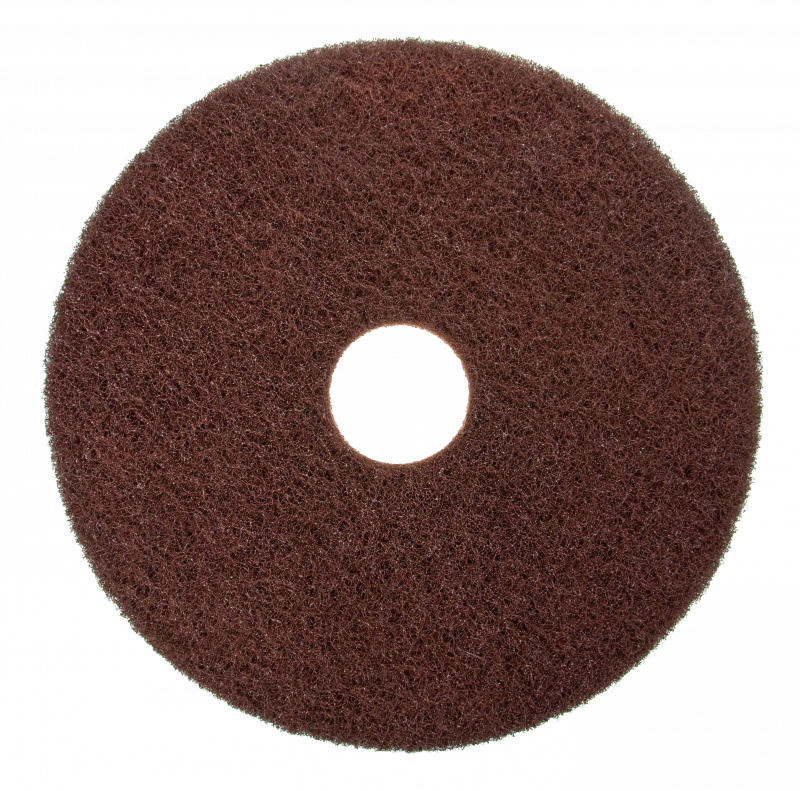 Scotch-Brite stripping pad, brown