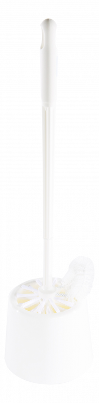Prima toilet brush with extended brush and cup