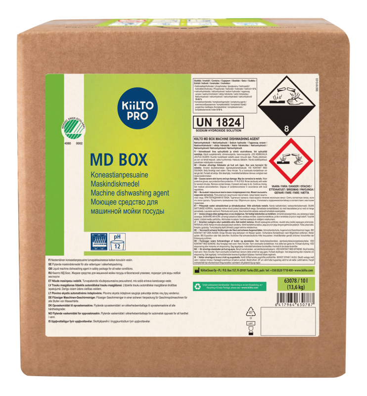 Kiilto MD Box Machine Dishwashing Agent